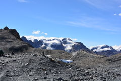 The Pastoruri glacier, inside the Huascarán National Park, Peru. The famous Pastoruri glacier, one of the touristical attractions of the Huascarán National Royalty Free Stock Photography