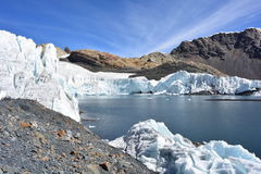 The Pastoruri glacier, inside the Huascarán National Park, Peru Royalty Free Stock Photography