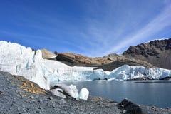 The Pastoruri glacier, inside the Huascarán National Park, Peru. The famous Pastoruri glacier, one of the touristical attractions of the Huascarán National Stock Photos