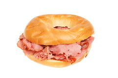 Pastrami in a bagel Stock Image