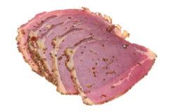 Pastrami del manzo isolato immagine stock libera da diritti