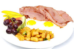 Pastrami and eggs Stock Image