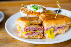 Pastrami Grinder Sandwich Stock Photo