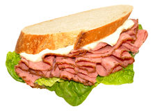 Pastrami Meat Sandwich Royalty Free Stock Image