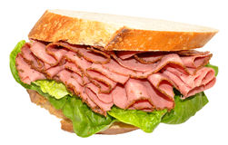 Pastrami Meat Sandwich Stock Photography