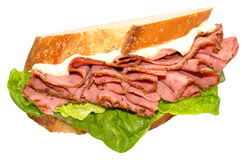 Pastrami Meat Sandwich Royalty Free Stock Images