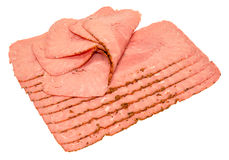 Pastrami Meat Slices Stock Images