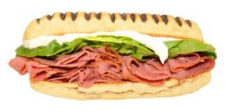 Pastrami Panini Sandwich Stock Image