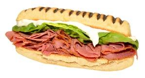 Pastrami Panini Sandwich Royalty Free Stock Photo