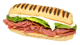 Pastrami Panini Sandwich Royalty Free Stock Photography