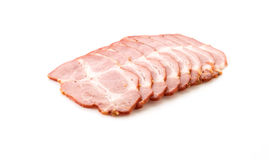 Pastrami pork. On white background Stock Photography