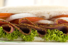 Pastrami sandwich Royalty Free Stock Photography