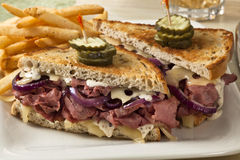 Pastrami sandwich Stock Photography