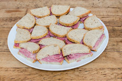 Pastrami sandwiches Royalty Free Stock Photos