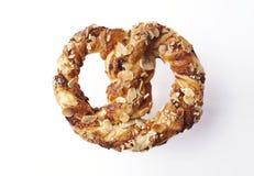 Заплетенное pastrie слойки с миндалинами Стоковое фото RF