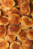Pastries. Bunch of small golden brown pastries Stock Images