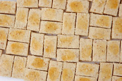 Pastries. Pattern of rectangular-shaped pastry with egg yolk wash Royalty Free Stock Photos