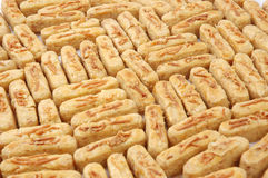Pastries. Pattern of pastries with a sprinkling of cheese Stock Image