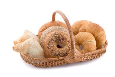 Pastries in a basket Stock Image