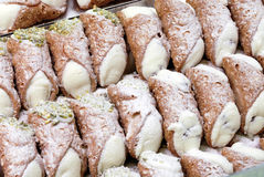 Pastries, cannoli of Sicily Stock Photography