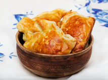 Pastries in a ceramic bowl Royalty Free Stock Image