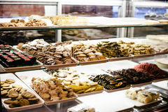 Pastries on Clear Glass Cabinet Royalty Free Stock Photos