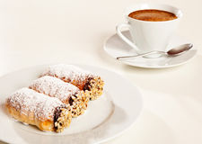 Pastries and coffee cup Stock Photo