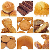 Pastries collage. A collage of nine pictures of different kind of biscuits and pastries Stock Photography