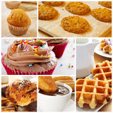 Pastries collage Stock Photography