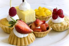 Pastries for Dessert. Image of a variety of delicious looking pastries for dessert Royalty Free Stock Photography