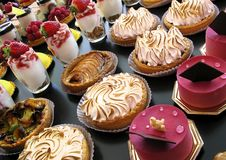 Pastries and desserts Stock Photography