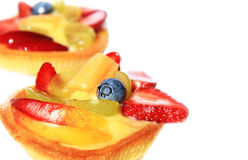 Pastries with fruit. Pastries with cream and fruit Royalty Free Stock Images