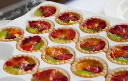 Pastries with fruit Royalty Free Stock Photography