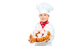 Pastries kid Royalty Free Stock Images
