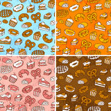 Pastries pattern Royalty Free Stock Images