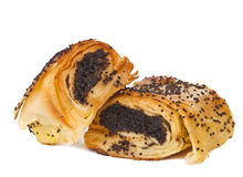 Pastries with poppy seeds isolated Royalty Free Stock Photos