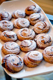 Pastries with raisins Stock Photography