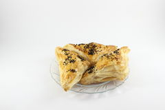 Pastries with stuffed cheese Stock Photography