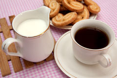 Pastries and tea Stock Images