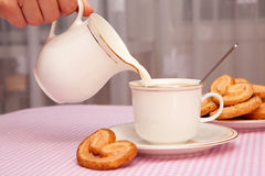 Pastries and tea Stock Photos
