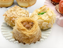 Pastries. Typical Oriental Pastries with honey and nuts Stock Images