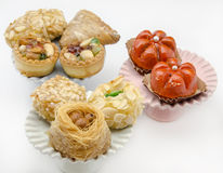 Pastries. Typical Oriental Pastries with honey and nuts Stock Photography