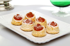 Pastries whit apricot marmalade Stock Image