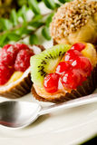 Pastries With Fruits Royalty Free Stock Image