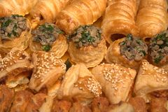 Pastry #. Mushrooms in crispy dow, susan Stock Photography