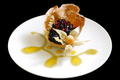 Pastry. �n the plate Stock Image