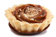 Pastry. A pastry with nuts isolated over white Royalty Free Stock Image