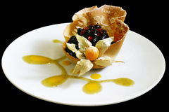 Pastry. �n the plate Royalty Free Stock Images