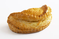 Puff Pastry. French puff pastry on white stock photos
