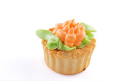 Pastry. Fresh delicious pastry on white background Stock Photography